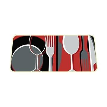 Tapis de cuisine cuisine 50x120 cm d cor vaisselle for Tapis de cuisine rectangulaire