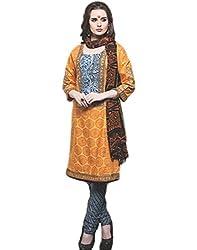 WE Women's cotton satin unstitched dress material.
