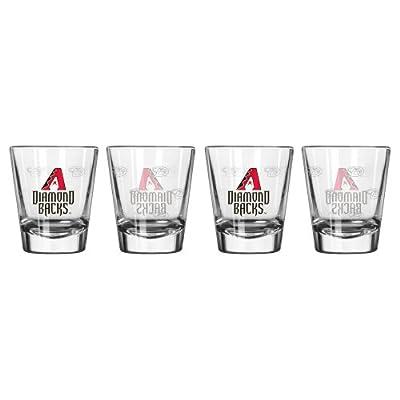 MLB Arizona Diamondbacks Satin Etch Shot Glass Set (4-Pack), 2-Ounce