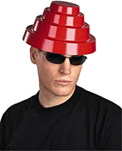 Adult Devo Red Energy Dome Hat
