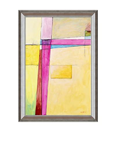 "Clive Watts Edge Of Abstraction No 7 Framed Print On Canvas, Multi, 41"" x 29"""