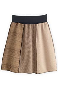 Green 3 Apparel Reclaimed Tan Collage Skirt