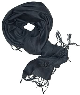 SethRoberts-A Luxurious Pashmina Silk Blend Scarf in Black