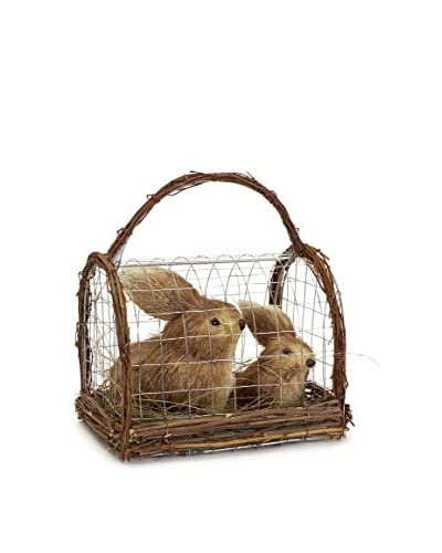 Melrose Sisal Bunnies in a Cage