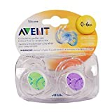 Philips AVENT BPA Free Contemporary Freeflow Pacifier, 0-6 Months, Colors and Designs May Vary