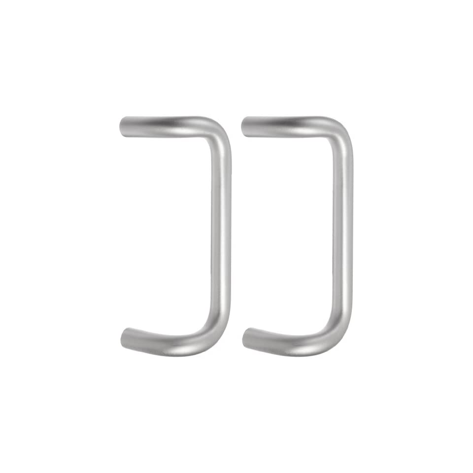 Rockwood BF157BTB16.28 Aluminum 90-Degree Offset Door Pull 1 Diameter x 10 Center-to-Center Clear Anodized Finish Back To Back Mounting for 1-3//4 Door