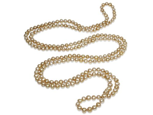 Aurea - Golden Pearl Necklace