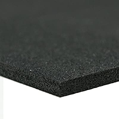 Recycled Rubber - 60A - Rubber Sheets and Rolls - 5mm Thick - Black