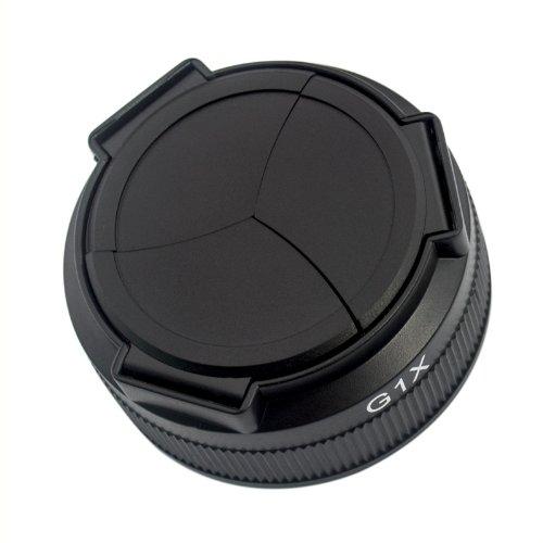 Ckeyin automatischer Objektivdeckel für Canon Powershot G1X G1 X + Microfaser Brillenputztuch