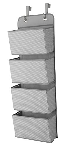 Delta Children 4 Pocket Hanging Wall Organizer, Dove Grey Storage and Organization Furniture