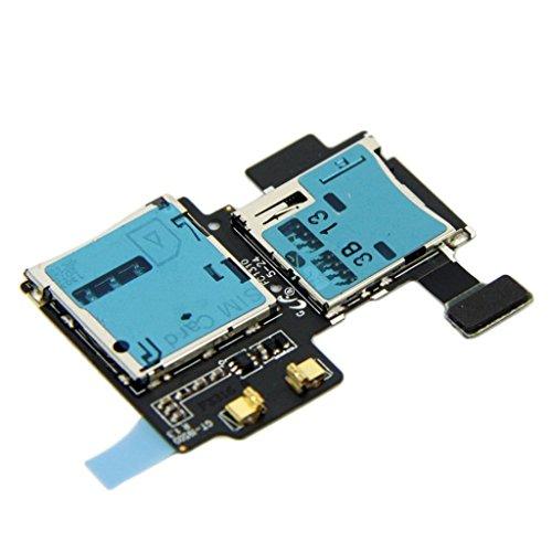 SKILIWAH® Samsung Galaxy S4 i9500 i9508 i9505修理用 純正Sim トレイ SD カードリーダー コネクタホルダー リペアパーツ 修理交換用パーツ
