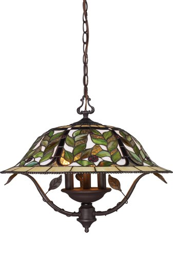 Landmark 08016-TBH Latham 3-Light Chandelier, 19-Inch, Tiffany Bronze with Highlight