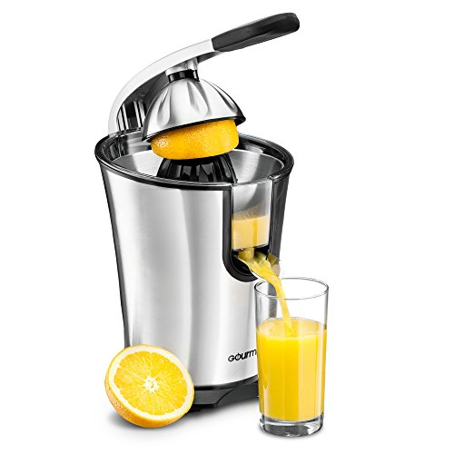 Gourmia EPJ100 Stainless Steel Power Squeeze 10QT Motorized 160 Watts Citrus Press Juicer Juice Extractor (Lemon Squeezer Electric compare prices)