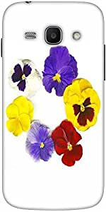 Snoogg a circle made of colorful viola tricolor Hard Back Case Cover Shield For Samsung Galaxy Ace 3