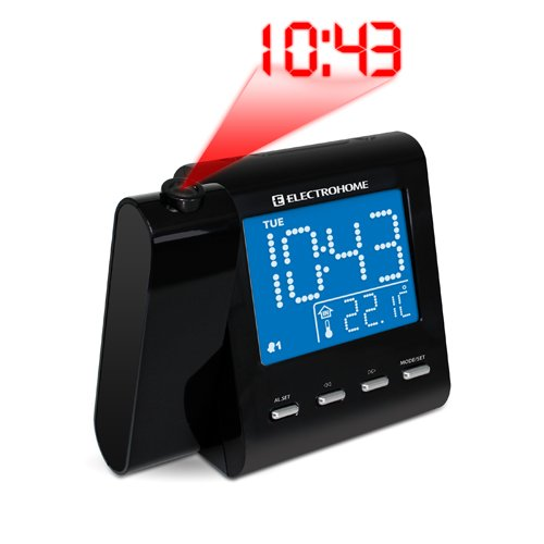 electrohome projection alarm clock with am fm radio. Black Bedroom Furniture Sets. Home Design Ideas