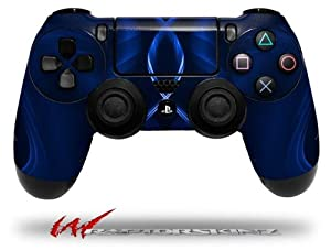 Abstract 01 Blue - Decal Style Wrap Skin fits Sony PS4 Dualshock 4 Controller - CONTROLLER NOT INCLUDED