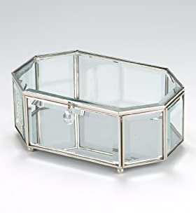 Clear Glass Octagon Box
