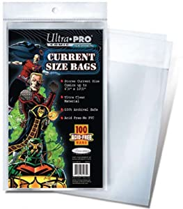 Ultra Pro Current Size Bags, 6 7/8 X 10 ? (100/Pack)