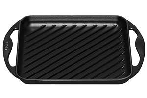 gusseiserne pfanne le creuset 20127000000460 grillplatte quadratisch 24 x 24 cm schwarz top. Black Bedroom Furniture Sets. Home Design Ideas
