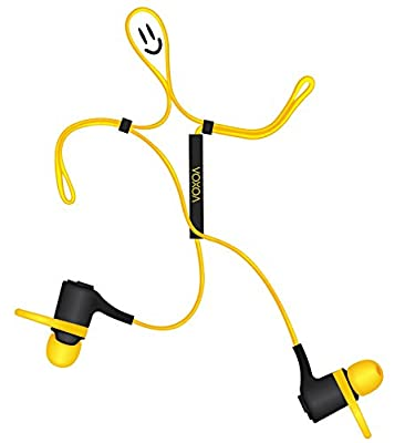 VOXOA Sports Wireless Earphones - Sweatproof and Water Resistant - work with any Bluetooth devices Tablet, Smartphones, iPad, iPhones, Android, Windows, Mac, Samsung