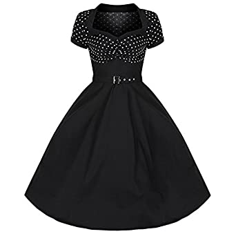 Pretty Kitty Fashion 50s Polka Dot Cocktail Dress XS