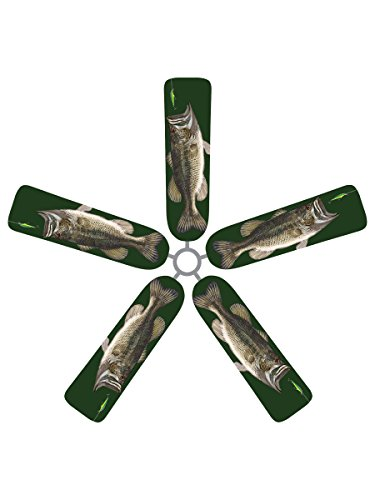 fan blade designs ra 4qm7 dr8w ceiling fan blade covers large mouth bass home garden household. Black Bedroom Furniture Sets. Home Design Ideas