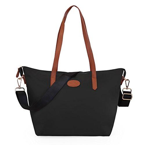 ECOSUSI Shopper Ufficio Tote Bag Borse a Spalla Donna Nero
