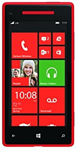 HTC 8X 4G Windows Phone, Red (Verizon Wireless)
