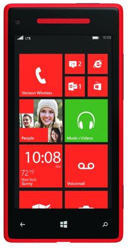 HTC 8X 4G Windows Phone, Red (Verizon Wireless)