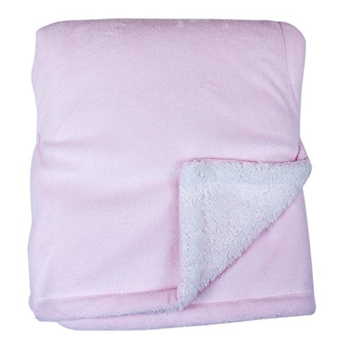 My Baby Mink Sherpa Blanket, Pink front-69558