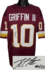 Robert Griffin III Autographed Hand Signed Washington Redskins Maroon Prostyle...