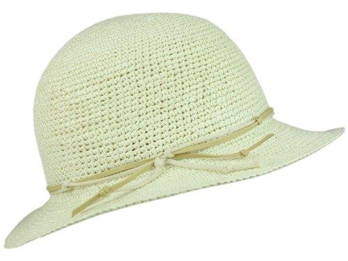 CROCHET BLEACHED Panamahut Damen Sommerhut Schlapphut von Mayser M/56-57