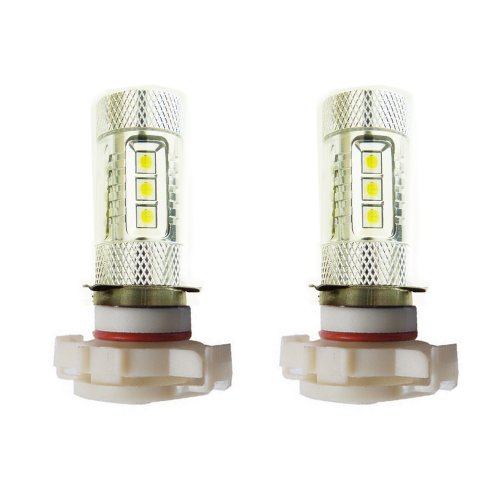Genssi 2X 80W Cree White H16 5202 9009 High Power Led 12V Fog Light Led Lamp