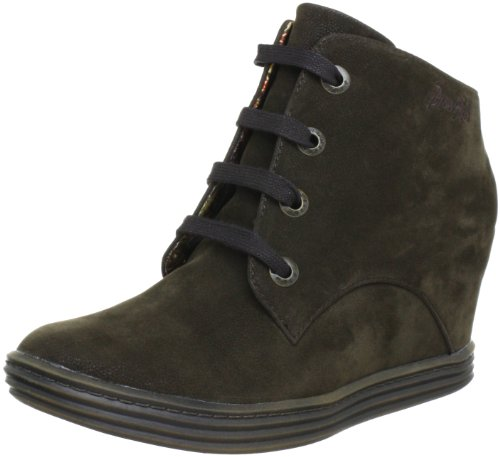Blowfish Trick Wedges Lace Boot Boots Womens Brown Braun (darkbrown fawn PU BF228) Size: 7 (41 EU)