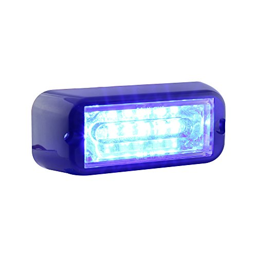 Lamphus Cosmicray 6W Volunteer Firefighter Emergency Vehicle Led Deck Grille Strobe Warning Linear Light Head ( Other Color Available ) - Blue