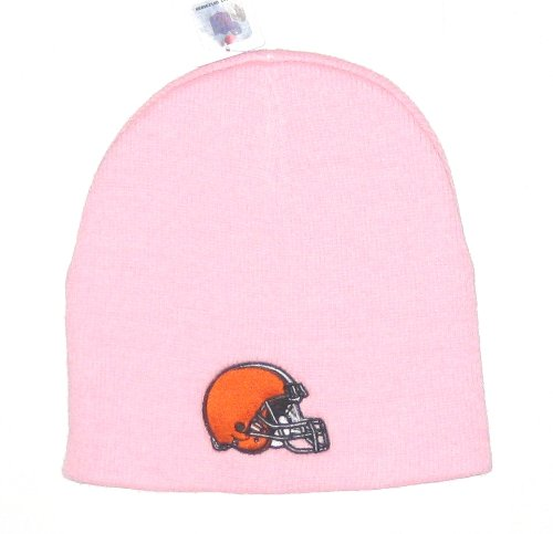 Cleveland Browns NFL Women's Pink Cuffless Classic Beanie Hat - Helmet Logo at Amazon.com