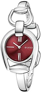Gucci Women's YA139502 Gucci Horsebit Collection Analog Display Swiss Quartz Silver Watch