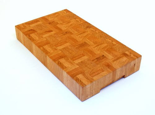 80mm End Grain Oak Chopping Board / Butchers Block Slab