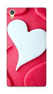 Amez designer printed 3d premium high quality back case cover for Sony Xperia Z5 Premium (Heart Love Shaped Desert Cake)