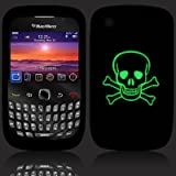 Terrapin BlackBerry 8520 Curve Silicone Skins by - Black Skull