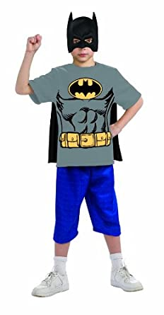 Justice League Child's Batman 100% Cotton T-Shirt - Large
