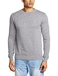 Proline Men's Cotton Sweatshirt (8907007202890_PC09910J_X-Large_Grey Marl)