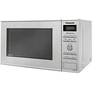 Panasonic NN-SD372S 0.8 Cubic Feet 950-Watt Inverter Microwave, Stainless Steel