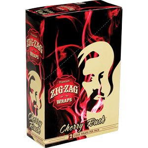 Zig Zag Cigar Wraps Cherry Rush – 25/2 Wrap Pouches