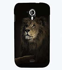 PRINTSWAG LION Designer Back Cover Case for MICROMAX A116 CANVAS HD