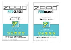 Zoop Premium 2.5D Rounded 9H 2.6mm Anti Burst Tempered Glass Pack of 2 for HTC A9