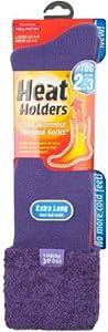 Ladies Velvet Feather Heat Holders Wellington Thermal Sock - Size Us 5-9 (24 ...