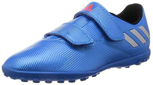 Adidas Messi 16.4 Tf H&L, Scarpe da Calcio Bambino, Blu (Shock Blue/Matte Silver/Core Black), 32 EU