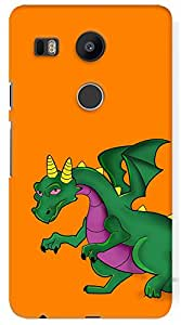 Kasemantra Angry Dino Case For Google Nexus 5x