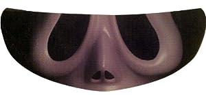 SkullSkins Scream SK Motorcycle Shield Skin (Black/Cream)